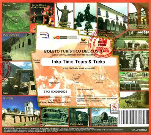 cusco-tourist -ticket