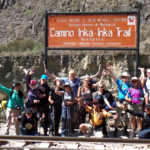tourists on inca trail