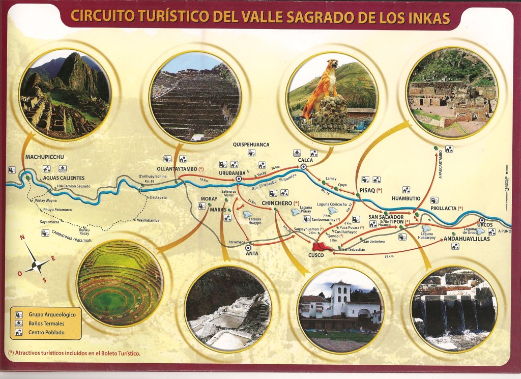 Map Sacred Valley of the Incas
